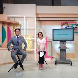びわ湖放送 TVセットテレビセット装飾舞台装飾 滋賀経済NOW
