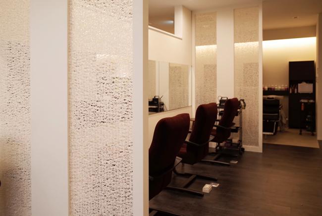 インテリア新素材間仕切りオシャレ美容室装飾
