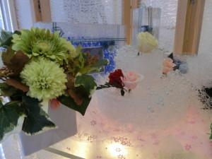 インテリアライフスタイル2014ジャパンスタイル フラワーアレンジメント ブリザーブドフラワー 装飾
