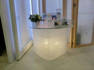 インテリアライフスタイル2014ジャパンスタイル フラワーアレンジメント ブリザーブドフラワー 装飾 テーブル